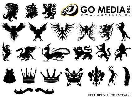 free vector Go media produced vector continental animal and crown