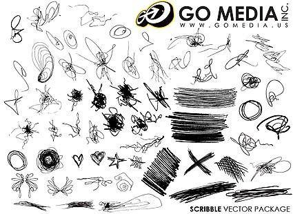 free vector Go media produced vector the trend of messy lines