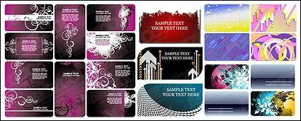 Card template vector background material