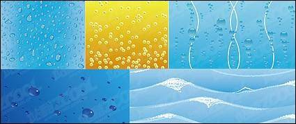 free vector Water-related vector background material