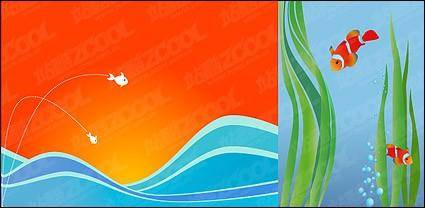 Fish vector illustration background material