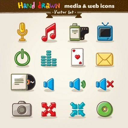 Cartoon icon vector 2
