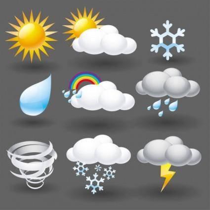 free vector Cartoon weather icon 05 vector