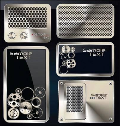 free vector Exquisite metal icon 02 vector