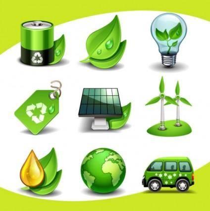 free vector Creative environmental icon 01 vector