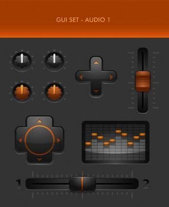 free vector Delicate button icon 03 vector