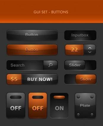 free vector Delicate button icon 04 vector