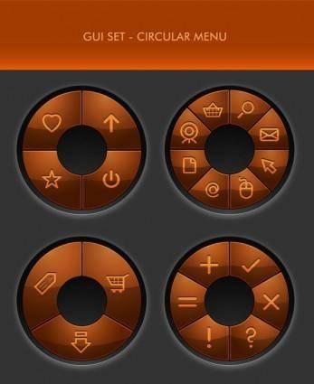 Delicate button icon 05 vector