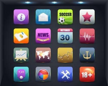 free vector Web icon button 01 vector