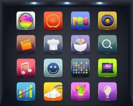 free vector Web icon button 02 vector