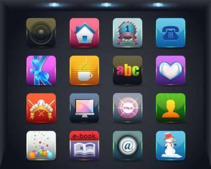 free vector Web icon button 03 vector
