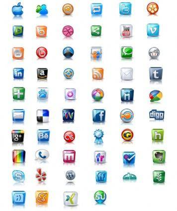 free vector The exquisite icons vector