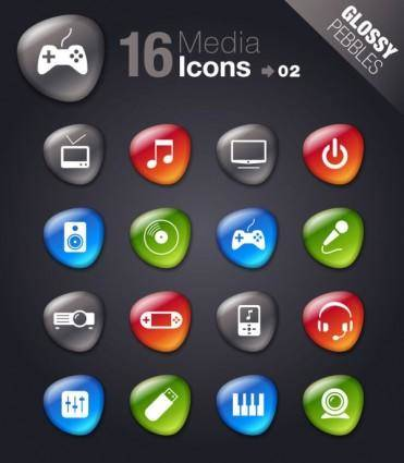 free vector Smooth soft stone icon 05 vector