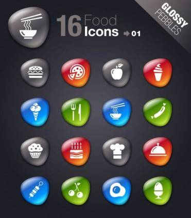 Smooth soft stone icon 01 vector
