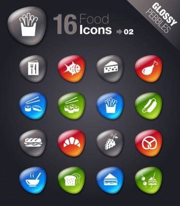 Smooth soft stone icon 02 vector