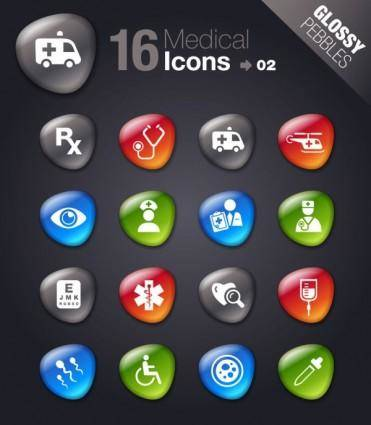 Smooth soft stone icon 03 vector