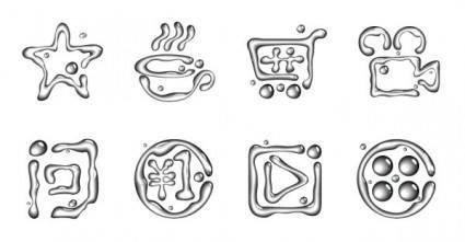 Drops icon vector icon