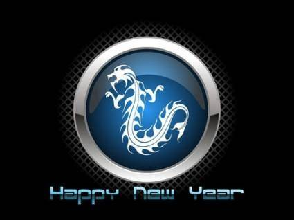 Chinese dragon high light icon vector
