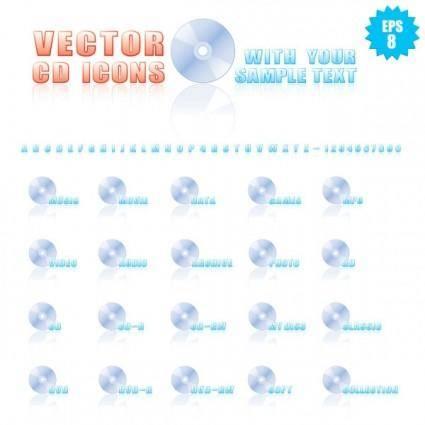 free vector Cdrom icon 01 vector