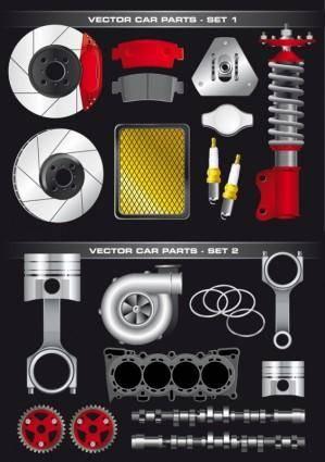 free vector Vector auto parts