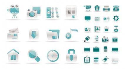 free vector Simple web design icon vector