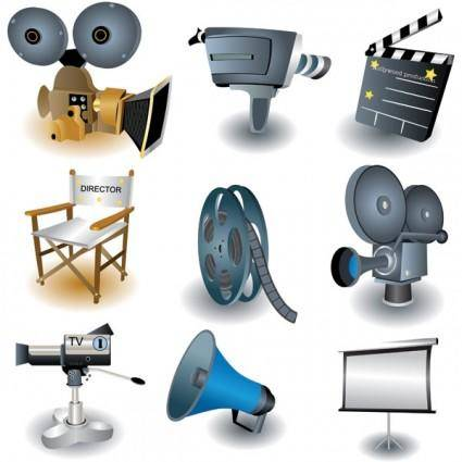 free vector Movie theme icon vector