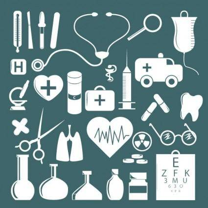 free vector Simple medical icon vector