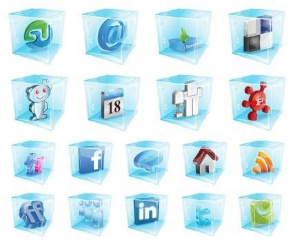 free vector Were frozen web20 icon vector