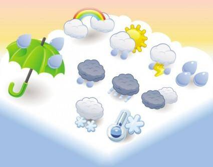 free vector Cartoon weather icon 01 vector