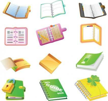 free vector School supplies cartoon icon vector