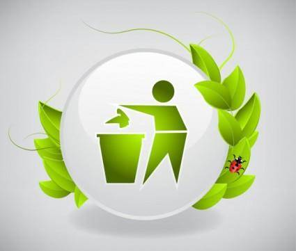 Green icon 02 vector