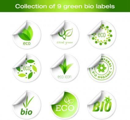 free vector Green sticker icon vector