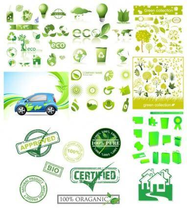 Variety of environmental icon vector