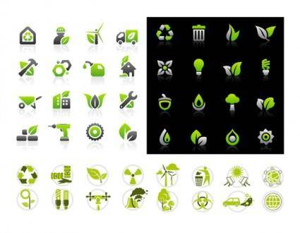 Vector green icon set