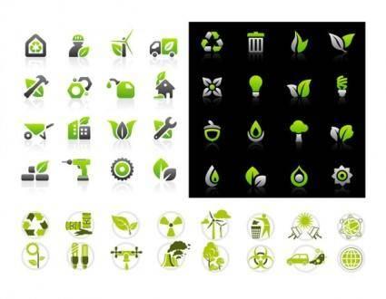 free vector Vector green icon set