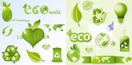 Eco theme icon vector