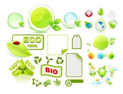 free vector Green icon vector