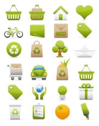 Green icon vector