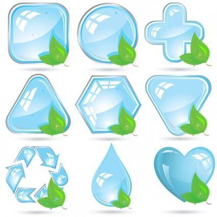free vector Crystal green icon vector
