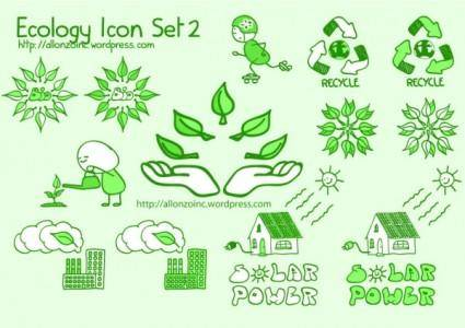 Cute green icon vector