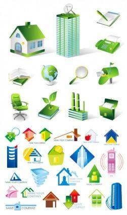 House real estate theme icon vector