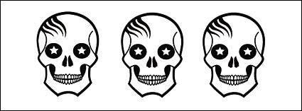 free vector Cute skull vector alternative