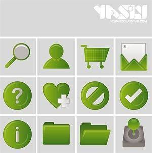 Commonly used in web design green style icon vector