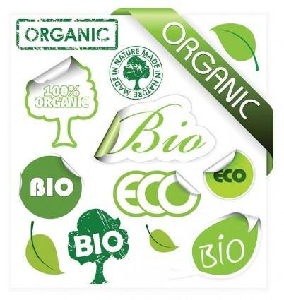 Environmental theme stickers icon vector
