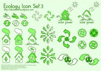 Cute green icon vector