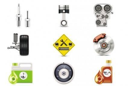Auto parts icon 04 vector