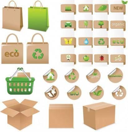 free vector Environmental theme icon vector