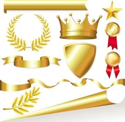 free vector Metallic jewelry icon 01 vector