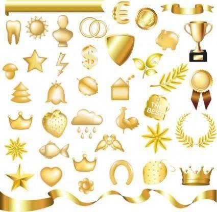 Metallic jewelry icon 02 vector