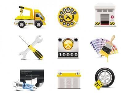 Taxi accessories icon 01 vector